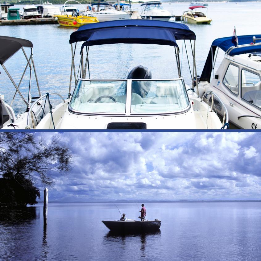 Lake Conroe and Lake Houston
